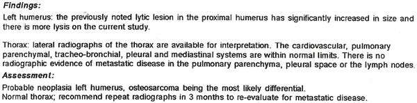 Radiology Report - 9/3